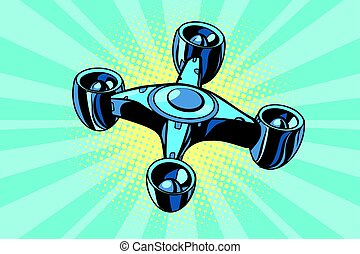 quadcopter, truteń, futurystyczny