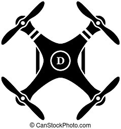 quadcopter, vector, black , rc, neuriën
