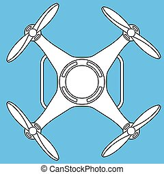 Quadcopter - Illustration of the quadcopter drone icon