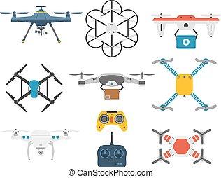 Quadcopter vector set.