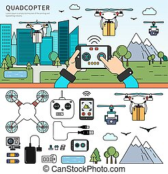 Quadcopters on the street