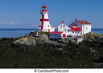 The lighthouse on the eastern coast of New Brunswick