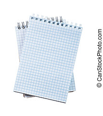 quaderni, bianco, set, controllato, isolato