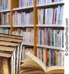 quaderno, in, biblioteca