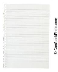 quaderno, pagina