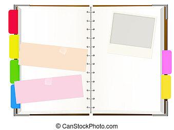 quaderno, pagine, vuoto