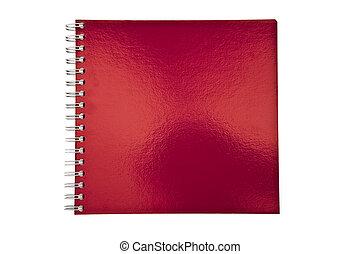 quaderno, rosso