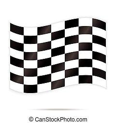 quadrado, abstratos, verificador, vetorial, xadrez, fundo, popular, correndo