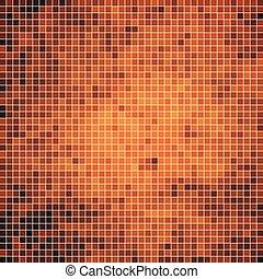 quadrado, abstratos, vetorial, fundo, pixel, mosaico