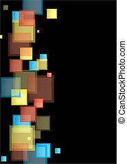 quadrado, arco íris, apresentação