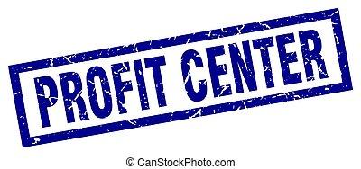 quadrado azul, grunge, centro, lucro, selo