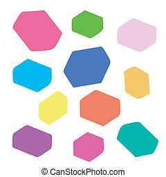 quadrado, blocos, fundo, coloração