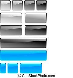 quadrado, botão
