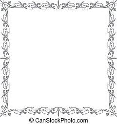 quadrado, cinzento, ai10, frame2, ornamento