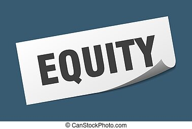 quadrado, equity., sinal., capital próprio, peeler, sticker.