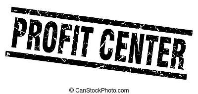 quadrado, grunge, centro, lucro, selo, pretas