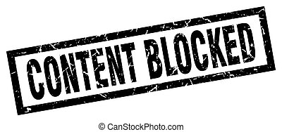 quadrado, grunge, selo, conteúdo, pretas, bloqueado