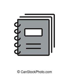 quadrado, internet, documento, illustration., ícone, pretas, original, botão
