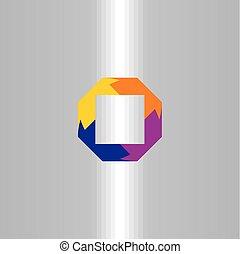 quadrado, negócio, abstratos, elemento, vetorial, logotipo, símbolo, ícone