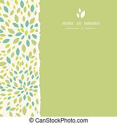 quadrado, padrão folha, quadro, rasgado, seamless, textura, ...