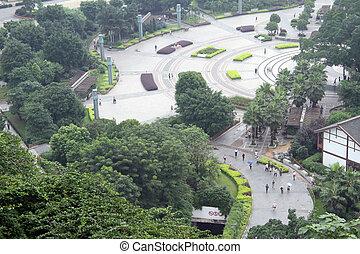 quadrado, parque