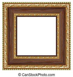 quadrado, quadro fotografia, isolado, experiência., branca, seu