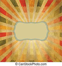 quadrado, sunburst, dado forma