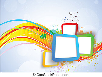 quadrados, coloridos, fundo