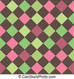 quadrados, seamless, fundo, retro