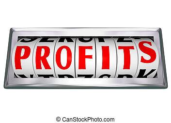 quadrante, parola, reddito, vendite, piste, odomoter,...