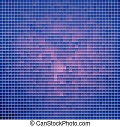 quadrat, abstrakt, vektor, hintergrund, pixel, mosaik