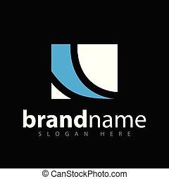 quadrat, abstrakt, vektor, schablone, logo, ikone
