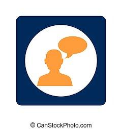 quadrat, gemeinschaftsarbeit, für, bussines, in, versammlung, und, oval, callout