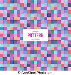 quadrat, geometrisches muster, seamless, bunte, hintergrund
