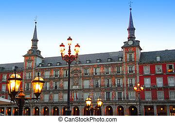 quadrat, madrid, plaza bürgermeister, spanien, typisch