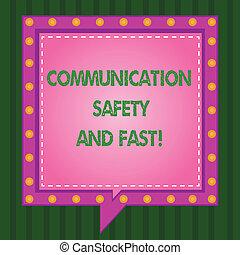 quadrat, sicherheit, geschäftskommunikationen, circles., kommunikation, ausstellung, innenseite, schreibende, merkzettel, kaputte , andere, sicherheit, fast., foto, showcasing, vortrag halten , linie, schnell, geschwindigkeit, blasen