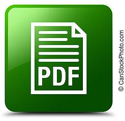 quadrat, taste, grün, pdf, dokument, ikone