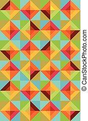 colorful Square background illustration
