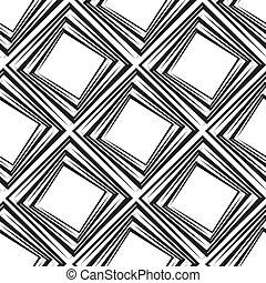 quadrate, muster, vektor, seamless, abbildung