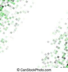 quadrato, arrotondato, astratto, -, diagonale, illustrazione, vettore, disegno, fondo, angolo, squadre, pixel
