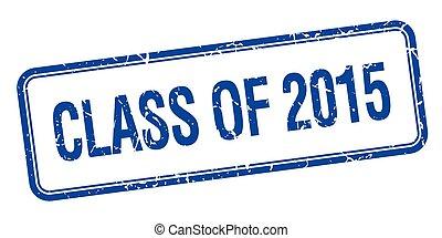 quadrato blu, francobollo, vendemmia, isolato, 2015, grungy, classe