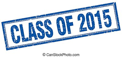 quadrato blu, grunge, francobollo, 2015, bianco, classe
