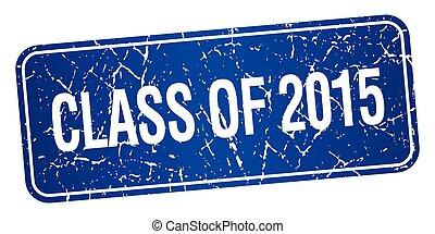 quadrato blu, grunge, francobollo, isolato, textured, 2015, classe