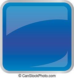 quadrato, blu scuro, bottone