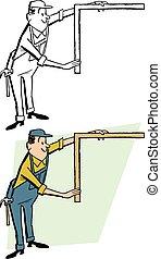 quadrato, carpentiere