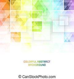 quadrato, colorito, pattern., vettore, fondo, mosaico