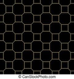 quadrato, eps10, catena oro, seamless, fondo., vettore, nero