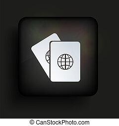 quadrato, eps10, fondo., vettore, nero, icona