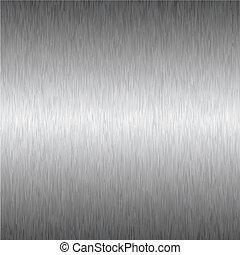 quadrato, metallo, argento, fondo