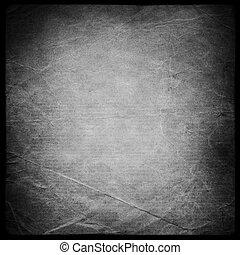 quadrato, modellato, grunge, fondo, mask., isolato, su, nero